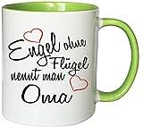 Mister Merchandise Kaffeebecher Tasse Engel ohne Flügel nennt man Oma Oma Großmutter Omi Großmama Muttertag Großmutt