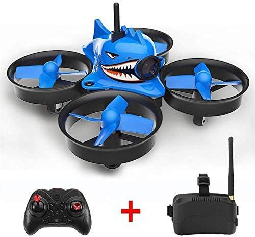 PEALO Micro Drone avec FPV, Quadricoptère en Forme de de de Requin, Avion 5.8G 40CH avec Lunettes VR, caméra Grand Angle de 120 degrés pour Enfants, Cadeau de Noël   Grand Assortiment  88d026
