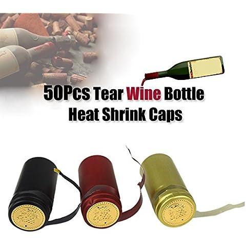 Bluelover 50pcs 30mm PVC rasgar cinta vino botella calor Shrink tapa sellado cubierta hogar Brew herramienta