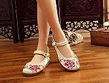 ZLL Chaussures brodées, semelle tendineuse, style ethnique, chaussures en tissu féminin, mode, confortable, décontracté