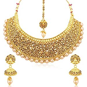 Sukkhi Jewellery Sets for Women (Golden) (N72399GLDPHT122017)