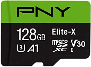 Pny Elite X 128gb Microsdxc Memory Card With Sd Adapter Computers Accessories
