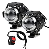 Best Fog Lights - PROZOR Motorcycle Headlights with Switch Motorcycle Front Spotlights Review