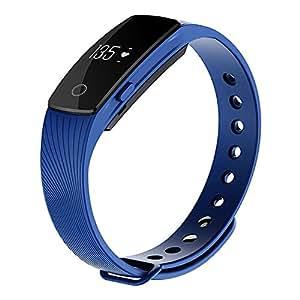 Zomtop ID107 Bluetooth 4.0 Smart-Armband smartband Heart Rate Monitor Armband Fitness Tracker für Android iOS Smartphone (blau)