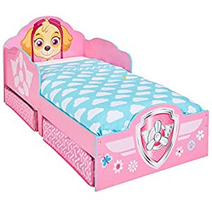 Paw Patrol Skye Kids Toddler Bed with underbed Storage ...