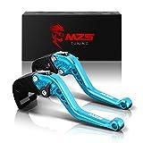 MZS blu frizione freno corto Leve per Yamaha YZF R3 2013-2017, YZF R25 2013-2017,MT-03 2015-2017,MT-25 2015-2017