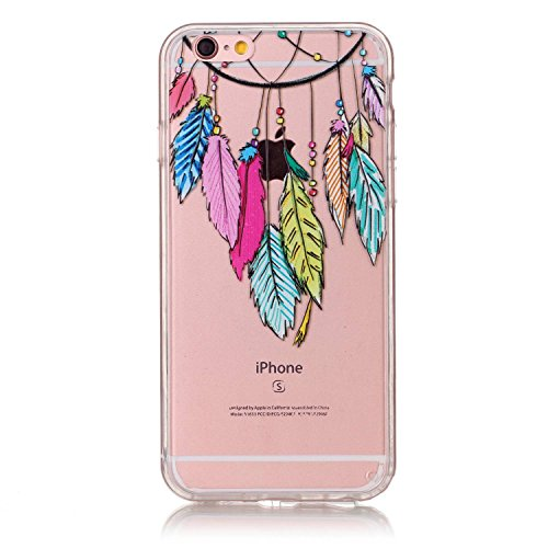 iPhone 6S Plus Hülle, iPhone 6 Plus Hülle,SainCat iPhone 6 Plus/6S Plus Silikon Hülle Transparent Handyhülle Muster Gel Schutzhülle [Kratzfeste, Scratch-Resistant] Ultra Slim Dünn Weichem Handytasche  Campanula#