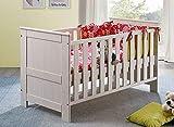 Main Möbel Babybett 70x140cm weiß Holz massiv Kiefer Julia