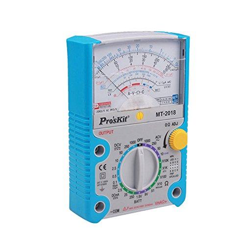 Pro 'sKit mt-2018Analog Multimeter Schutzfunktion Analog Multimeter Sicherheit Standard Professional Ohm Test Meter DC AC Spannung Tester Test Ac Spannung