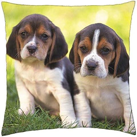 Beagle Pups - Throw Pillow Cover Case (18