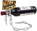BRUBAKER Wein Flaschenhalter Kette Metall Skulptur mit Geschenkkarte