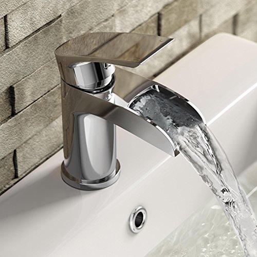 iBathUK | Luxury Waterfall Basin Sink Mixer Tap Bath Filler Hand Held Shower Head Set