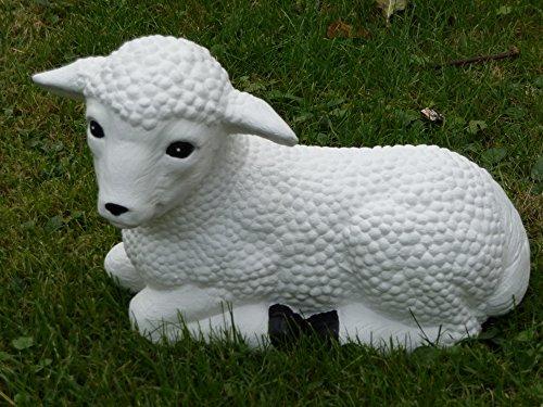 Mehrholz Steinfigur Schaf weiß Lamm groß