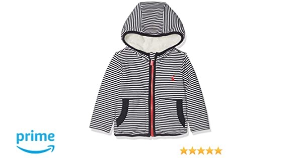 Joules Baby James Reversible Jacket in WHITE NAVY STRIPE