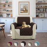 H.Versailtex Luxus Gesteppter Sofa Schutz Abdeckung Wasserresistenter Möbelschutz Überwurf, Strapazierfähig & Schmutzresistent – 190cm x 53cm Braun