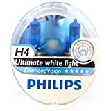 Philips Lot de 2 ampoules de phare H4 Diamond Vision