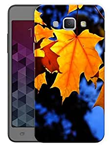 "Humor Gang Orange Maple Leaf Blue Printed Designer Mobile Back Cover For ""Samsing Galaxy A8"" By Humor Gang (3D, Matte Finish, Premium Quality, Protective Snap On Slim Hard Phone Case, Multi Color)"