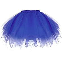 ZeWoo Mujer Adultos Mini Falda de Ballet Skirt Princesas Tutú de Tul para Baile Disfraces Fotografía Fiesta Despedida de Soltera