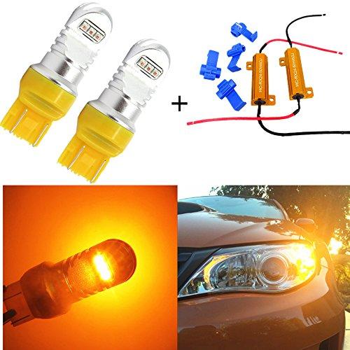 Preisvergleich Produktbild wljh 744374447440T20extrem helle Bernstein Blinker LED Leuchtmittel mit Canbus Decoder Fehler Kostenlos 50W Ohm Laden Widerstände