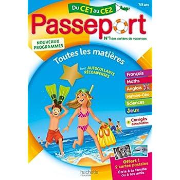 Passeport Cahier de Vacances 2019 - Toutes les matières du CE1 au CE2 - 7/8 ans
