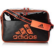 Adidas - Borsa Leisure Messenger Con Tracolla L Nero/Solar (Orange Messenger)