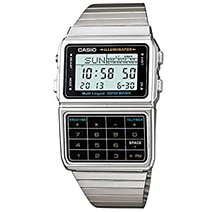 Casio DBC-611-1D Databank  - Wristwatch Unisex, Stainless Steel, Band Colour: Grey