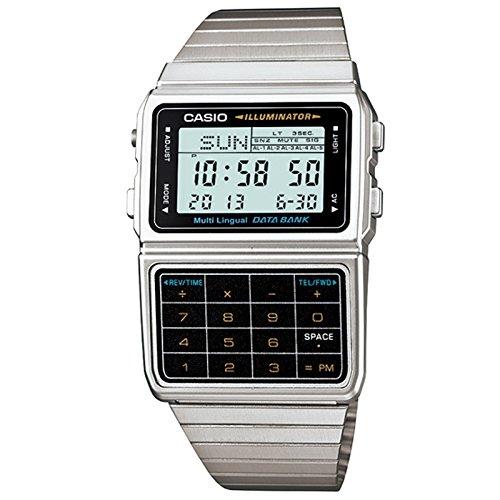 Casio DBC611-1D - Reloj unisex (cuarzo, alarma, correa de resina), color gris