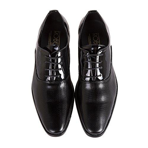 Robelli Herren Smart Hochzeit / Works Kunstlackleder Schuhe A05