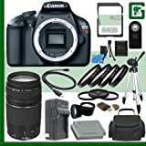 Canon EOS Rebel T3 Digital SLR Camera And Canon EF 75-300mm III Lens + 64GB Green's Camera Package 2