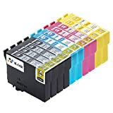 K-Tinte kompatible Tintenpatronen für Epson T 1291 T 1292 T 1293 T 1294 (10er-Packung - 4 Black, 2 Cyan, 2 Magenta, 2 Gelb)