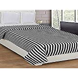 Double Bed White And Black Fleece Blankets PACK OF 3