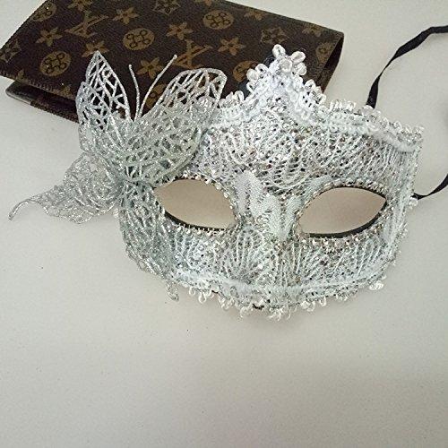 enezianische Maske, Princess Masquerade Maske Kostüm Party Halbmaske (Silber) (Silber-maskerade-masken Für Frauen)