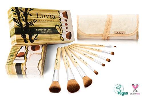 Schminkpinsel-Set Vegan von Luvia Cosmetics – 8 Make-Up Pinsel im Pinselset mit nachhaltigen...