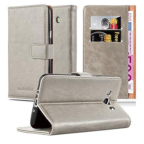 Samsung Galaxy J5 (6) Modell 2016 Hülle in CAPPUCINO-BRAUN von Cadorabo - Handy-Hülle Luxury Design mit Magnet-Verschluss Standfunktion und Karten-Fach Case Cover Schutz-hülle Tasche Book Klapp (Tasche Magnete)