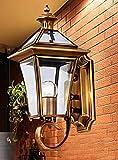 SJQKA-europäische wall lamp, outdoor - alle kupfer wall lamp, korridor korridor gartenmauer lampe, lot amerikanischen wall lamp, retro, wasserdichte wand lampe