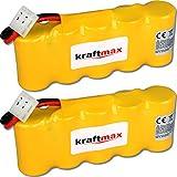 2x Kraftmax Akku für Bosch SOMFY K8 K10 K12 - 6V / 2000mAh NIMH - Hochleistungs- Akku mit über 42% mehr Leistung gegenüber den Akku mit 1400 mAh