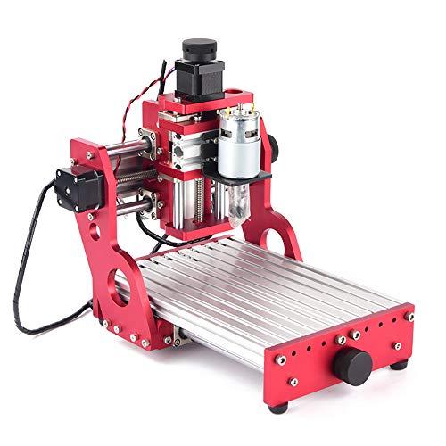 Router di macchina per incisione su metallo CNC,mini CNC macchina di fresatura fai da te con tutta la struttura in metallo per Soft Metal incisione taglio di alluminio rame PVC di legno PCB (1419)