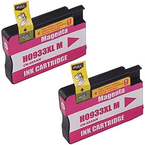 Bavvo® Cartucho de tinta refabricado para usar en lugar de HP 933XL(2 Magenta) use in HP Officejet 7100