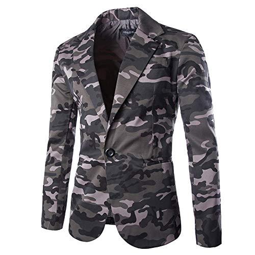 Sannysis Lässiger Blazer Herren Slim Fit Herbst Winter Strickjacke Camouflage Jacke Langarm Mantel Top Suits