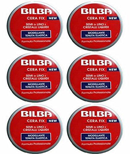 6 Bilba Cera per capelli FIX modellante tenuta elastica semi di lino e cristalli