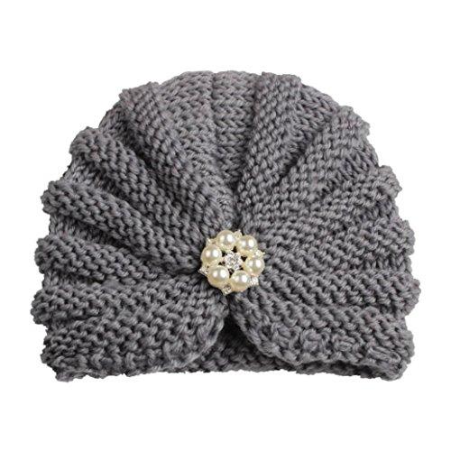 Xshuai Für 1-8 Jahre Indien Stil Baby Kind twist Wollmütze Headwear Härte Kappe Hut (E)