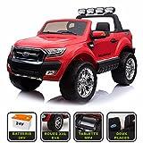 4x4 électrique 24Volts 10Ah Ford Ranger WILDTRAK Cristom , télécommande 2.4ghz , pneu reelle , 2 places , Tablette tactile MP4 ,Prise USB/Radio FM/MP3 , clé reelle , licence FORD (rouge)
