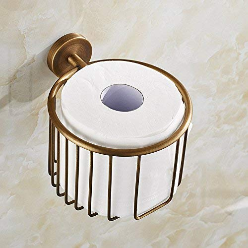 DX XD Antike Tissue Tube voll Kupfer Papier Handtuch Korb Toilettenpapier Frame Papier Rack Hardware Anhänger Badezimmer Schlafzimmer Küche Papierhalter - Rack Frame Wire