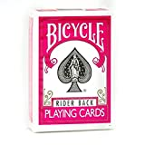 1 Deck of Bicycle Fuchsia Rider Back Playing Cards (PINK) Standard Edition Deck