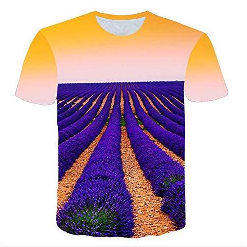 Bedruckte Herren T-Shirts für den Sommer Vintage und Urlaub Lässige Neuheit Cool Travel T-Shirt mit kurzen Ärmeln,3D gedrucktes Herrenhaus gelb S Status Cookie Cutter