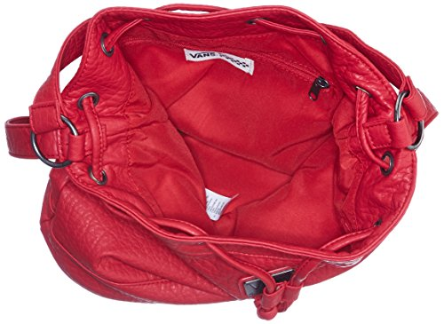 Vans Fire Drill Bucket - Borsa a tracolla Donna, Nero (black), Taglia unica Rosso (lollipop)