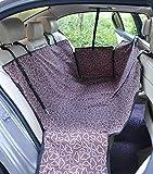 Zll Dog Seat Cover Pet Car Cover Seat Cover Cover mit Side Flaps Hängematte für Rückenzubehör für Back Seat Scratch Prloof rutschbar für Autos LKW und SUVs mit Sicherheits-Schnallen,Purple