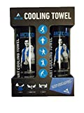 ARCTIC COOL Towels Arctic Cool Ultra Leightweight Workout Blue Mesh Cooling Towel by ARCTIC COOL 2 Pack Towels