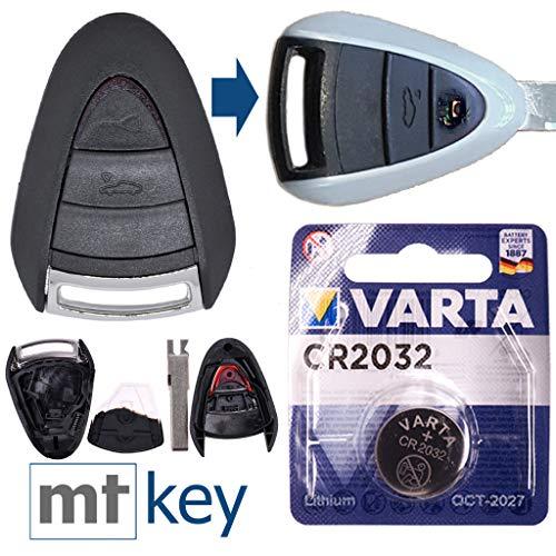 PORSCHE Kit riparazione auto Chiave di ricambio Custodia con 2 pulsanti + HAA Blank + Batteria per PORSCHE 911 997 987 Boxster Cayman