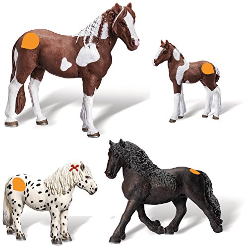 Ravensburger tiptoi 4-teiliges Set Tierfiguren: Barockpinto Stute + Fohlen + Friesen Hengst +...